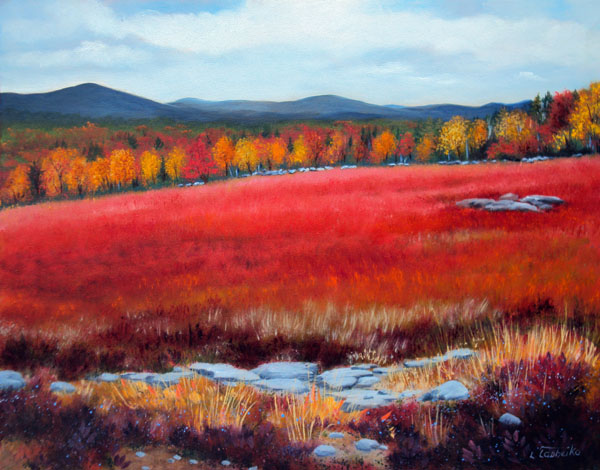 Beech Hill Blueberries by Laura Tasheiko, Maine Artist