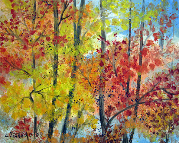 Gallery for abstract nature paintings for Abstract nature painting