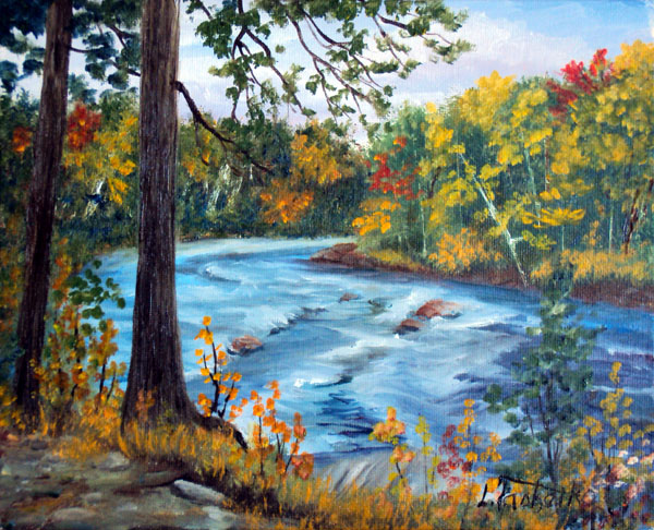 East Branch by Laura Tasheiko, Maine Artist