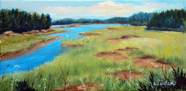 Wiscasset Marsh by Laura Tasheiko