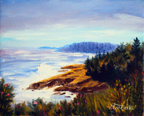 Otter Cliffs by Laura Tasheiko, Maine Artist