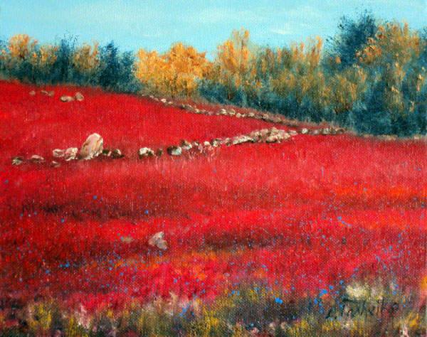 Wild Blueberry Fields by L. Tasheiko, Maine Artist