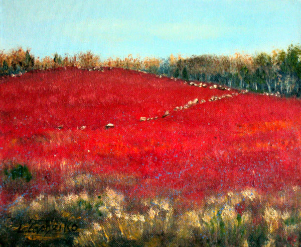 Wild Blueberries by L. Tasheiko, Maine ARtist